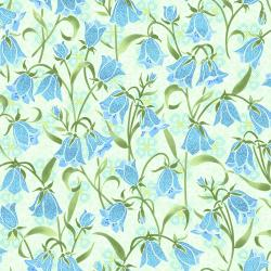 FF202-SP1M Blue Belle - Brilliant Blooms - Springtime Metallic Fabric