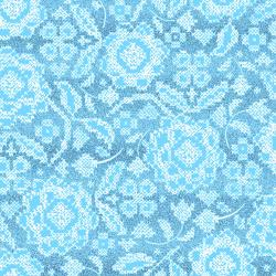 FF205-BR2M Blue Belle - Stitch and Sparkle - Bright Sky Metallic Fabric
