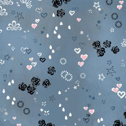 3604-002 Enchanted Lake - Charmed - Fog Metallic Fabric