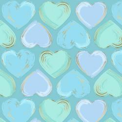FF502-AQ6M Shiny Objects - Good as Gold - Locket - Aqua Metallic Fabric