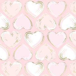 FF502-BL2M Shiny Objects - Good as Gold - Locket - Blush Metallic Fabric