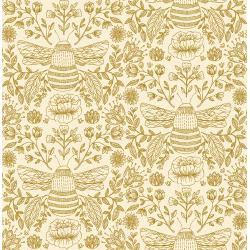 JM202-HN2M Summer in the Cotswolds - Bee's Knees - High Noon Metallic Fabric