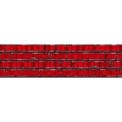 JF302-FL1M Heavy on the Metal - Metal Measures - Flaming Red Metallic Fabric