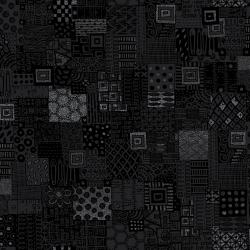 JF305-BL2M Heavy on the Metal - Rebel Quilter - Black Dress Metallic Fabric