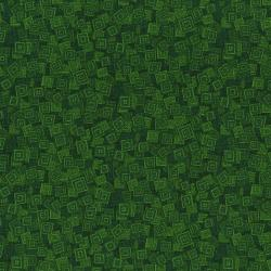 3215-003 Hopscotch - Overlapping Squares - Forest Fabric