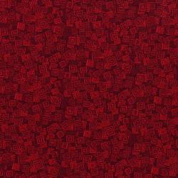 3215-005 Hopscotch - Overlapping Squares - Scarlet Fabric