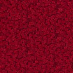 3215-006 Hopscotch - Overlapping Squares - Wild Strawberry Fabric