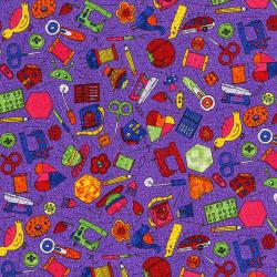 3423-002 Sewing 101 - Sew Fun - Purple Passion Fabric