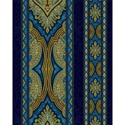 3578-001 Aruba - Border - Teal Gold Fabric