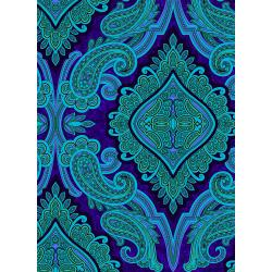 3579-002 Aruba - Paisley - Purple Fabric
