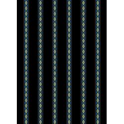 3580-001 Aruba - Mini Stripe - Teal Gold Fabric