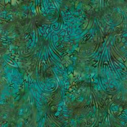 1764-008 Best Of Malam Batiks - Paisley - Ocean Fabric