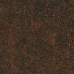 2142-004 Best Of Malam Batiks - Damask - Dark Coffee Fabric