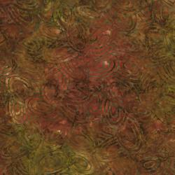 2143-002 Best Of Malam Batiks - Ovals - Orange Fabric