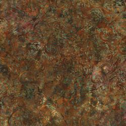 2144-004 Best Of Malam Batiks - Paisley - Dark Rust Fabric