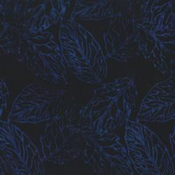 2145-006 Best Of Malam Batiks - Pressed Leaf - Navy Fabric