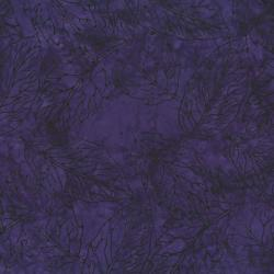 2145-011 Best Of Malam Batiks - Pressed Leaf - Dark Purple Fabric