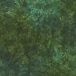 2146-003 Best Of Malam Batiks - Vine Leaf - Dark Khaki Fabric