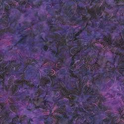 2147-002 Best Of Malam Batiks - Wispy Floral - Blue Fuschia Fabric