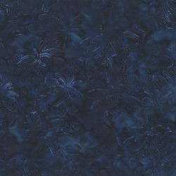 2147-006 Best Of Malam Batiks - Wispy Floral - Dark Royal Fabric