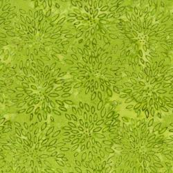 2548-002 Best Of Malam Batiks - Lotus - Lime Fabric