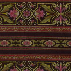 1280-004 Border Basics - Sophia Border - Brown Fabric