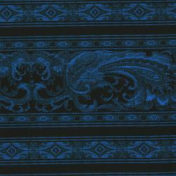 1841-004 Border Basics - Blue/Black Fabric
