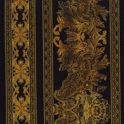 3012-002 Burano - Lace Border - Gold Fabric
