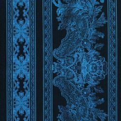 3012-004 Burano - Lace Border - Blue Fabric