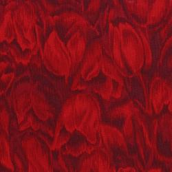 3016-002 Burano - Tulips - Red Fabric