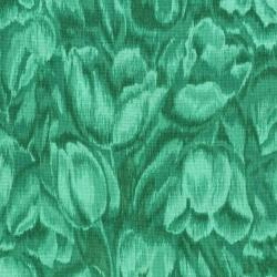 3016-004 Burano - Tulips - Teal Fabric