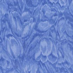 3016-005 Burano - Tulips - Blue Fabric