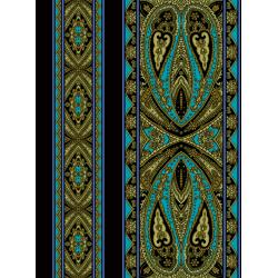 2795-007 Casablanca - Border - Bright Teal Fabric