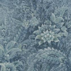 2102-002 Chelsea - Border - Blue Frost Fabric