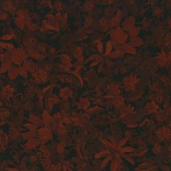 2450-004 Delhi - Flower - Black/Rust Fabric