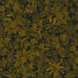 2450-021 Delhi - Flower - Black/Golden Fabric