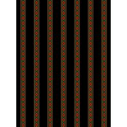 3580-005 Holiday Aruba - Mini Stripe - Red Green Fabric