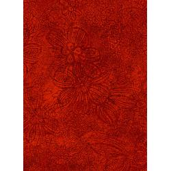 3369-001 Jinny Beyer Palette - Floral Etch - Brick Fabric