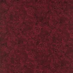 6342-012 Jinny Beyer Palette - Textured Bud - Maroon Fabric
