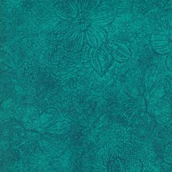 6931-027 Jinny Beyer Palette - Flower Texture - Turquoise Fabric