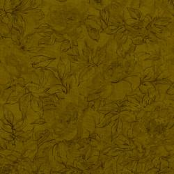 7132-022 Jinny Beyer Palette - Floral Outline - Seaweed Fabric