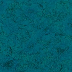 7132-029 Jinny Beyer Palette - Floral Outline - Azure Fabric