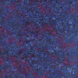 1766-001 Malam Batiks - New Peony - Dark Purple Fabric