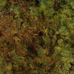 2144-005 Malam Batiks II - Paisley - Copper Fabric