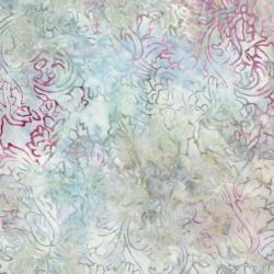 2981-006 Malam Batiks IV - Lampas Rose - Light Gray Batik Fabric