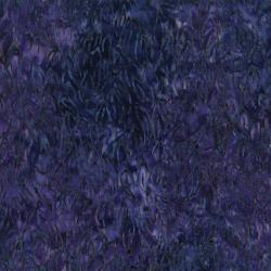 3285-003 Malam Batiks V - Leaves - Eggplant Batik Fabric