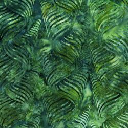 3286-002 Malam Batiks V - Ribbon - Grass Batik Fabric