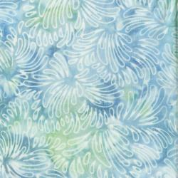 3626-001 Malam Batiks VI Lights & Brights - Petals - Pale Blue Fabric