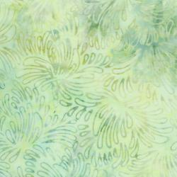 3626-002 Malam Batiks VI Lights & Brights - Petals - Mint Fabric