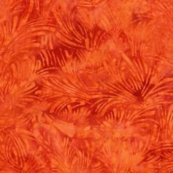 3628-006 Malam Batiks VI Lights & Brights - Grass - Bright Orange Fabric